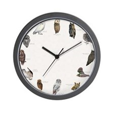 Owls_Clocklrg Wall Clock