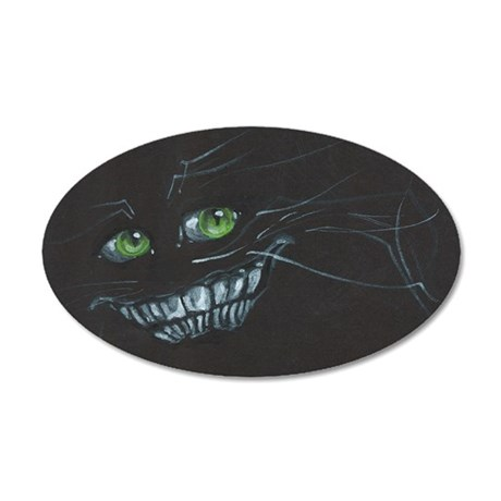 Cheshire Cat 35x21 Oval Wall Decal