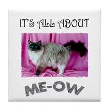 All About ME-OW Ragdoll Cat Tile Coaster