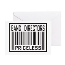 Band Directors Priceless Barcode Greeting Cards (P