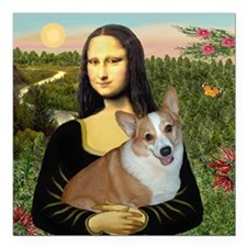 "Tile-Mona-Lucy - REV Square Car Magnet 3"" x 3"""