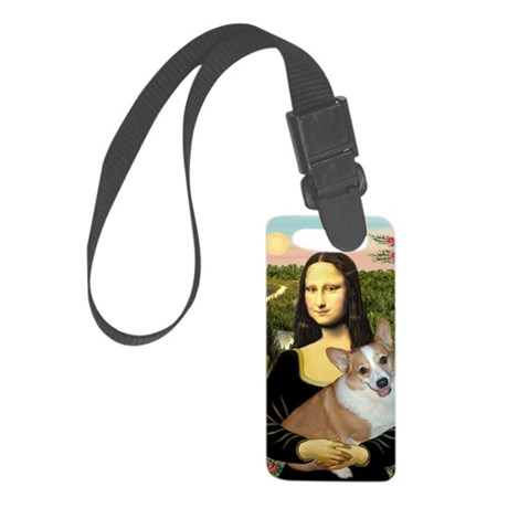16x20-Mona-Lucy-REV2 Small Luggage Tag