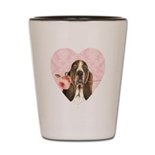 basset rose-heart Shot Glass