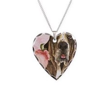 basset rose-key back Necklace