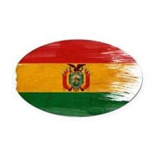 Boliviatex3-paint style-paint styl Oval Car Magnet