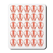 Many Mini Skull Catchers Red Mousepad