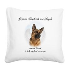 German Shepherd Angel Square Canvas Pillow