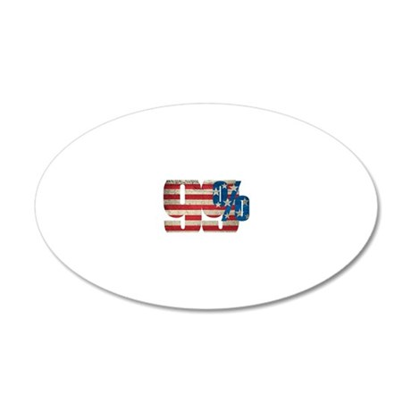 99% Oval Sticker 20x12 Oval Wall Decal