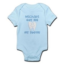 Personalized Baby Boy 1st Tooth Body Suit
