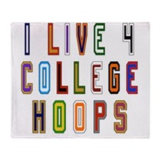 Live For College Hoops, Basketball Throw Blanket