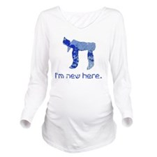 hi_new_5 Long Sleeve Maternity T-Shirt