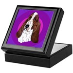 Adorable Basset Hound Keepsake Box