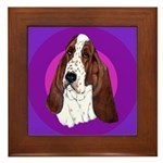 Adorable Basset Hound Framed Tile
