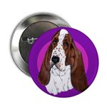 Adorable Basset Hound Button