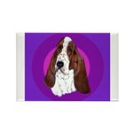 Adorable Basset Hound Rectangle Magnet (10 pack)