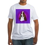 Adorable Basset Hound Fitted T-Shirt