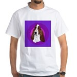 Adorable Basset Hound White T-Shirt