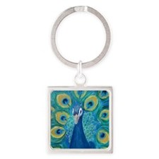 peacock_pack Square Keychain