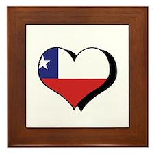 I Love Chile Framed Tile
