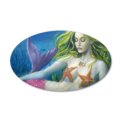 merm worked on landscape 35x21 Oval Wall Decal