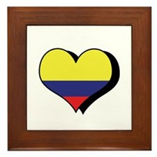 I Love Colombia Framed Tile
