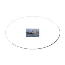 sample de framed panel print 20x12 Oval Wall Decal