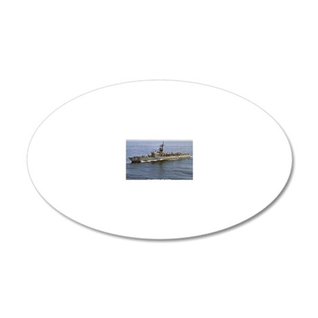 sample de rectangle magnet 20x12 Oval Wall Decal