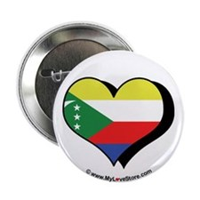 "I Love Comoros 2.25"" Button (100 pack)"