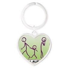 Parental Alienation-plain logo Heart Keychain