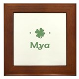 """Shamrock - Mya"" Framed Tile"
