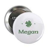 """Shamrock - Megan"" Button"