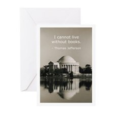 Jefferson's Quote Regarding B Greeting Cards (Pack
