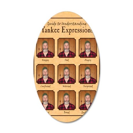 Yankee Guide Magnet 35x21 Oval Wall Decal