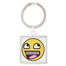 BRACES Square Keychain