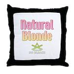 Natural Blonde Throw Pillow