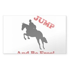 Jumping Rectangle Bumper Stickers