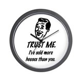 Trust Me Male Wall Clock