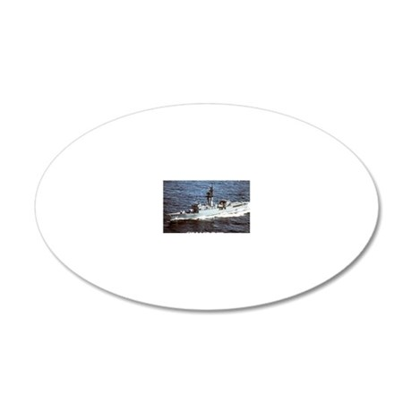 wssims de rectangle magnet 20x12 Oval Wall Decal
