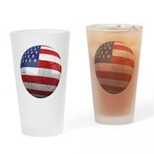 usa round Drinking Glass