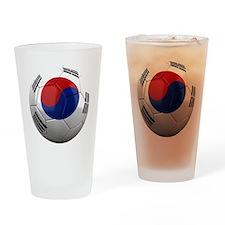 south korea round Drinking Glass