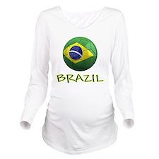 brazil ns Long Sleeve Maternity T-Shirt
