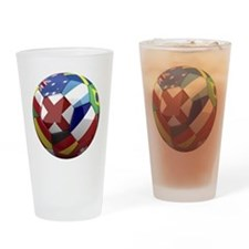 cup fever 1 round Drinking Glass