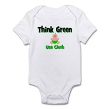 Think Green, Use Cloth Infant Bodysuit