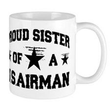 proud airman sister new design Mug
