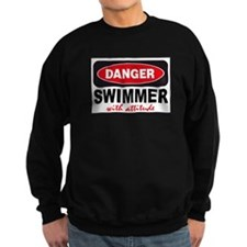Swimmer with Attitude Jumper Sweater