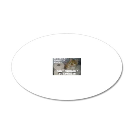 noes squarez 20x12 Oval Wall Decal