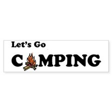 Lets Go Camping Fire 300 Stickers