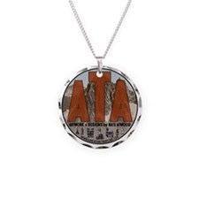 Adventure Travel Art Circle  Necklace