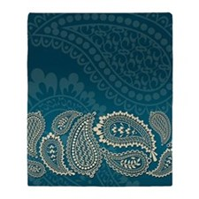 Paisley-iPad2 01 Throw Blanket