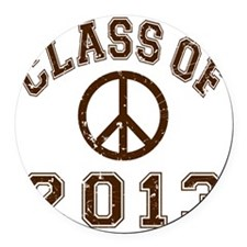 Class Of 2013 Peace - Brown 2 D Round Car Magnet